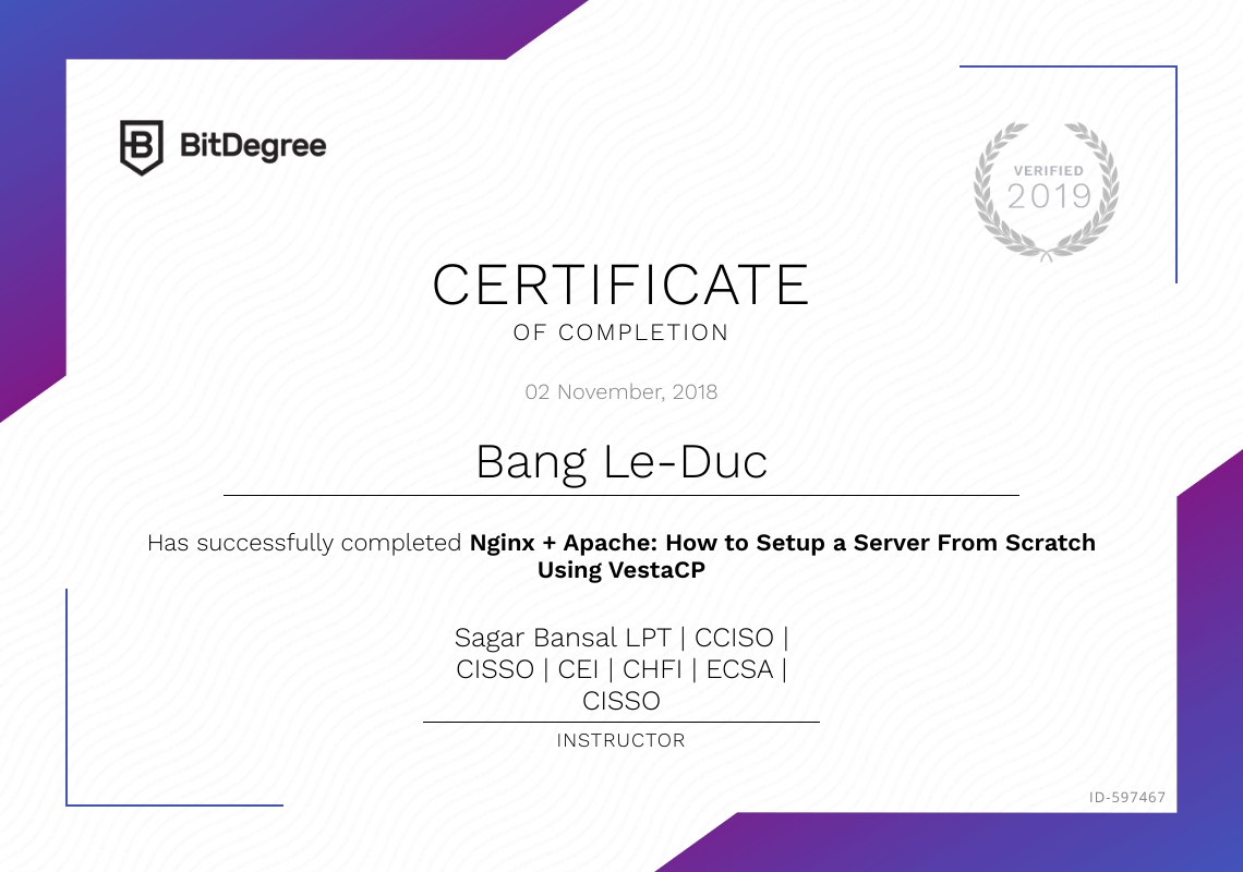 featured certificate